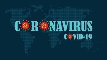 coronavirus covid-19 wereldkaart in stippen