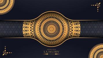 3D-luxe mandala ontwerp voor een papieren vector
