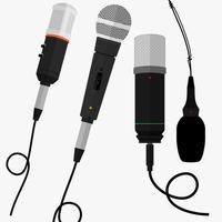 set microfoons vector
