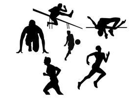 Silhouet vectoren van de atleet