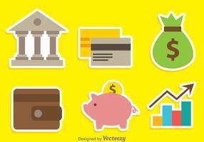 Bank kleuren iconen vector