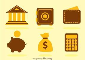 Duo Tone Bank Icons vector