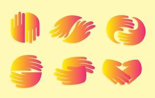 Handdruk gradatie iconen