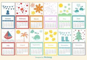 Kinderlijke kalender sjabloon