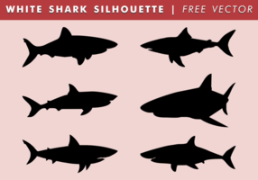 Witte Haai Silhouet Gratis Vector