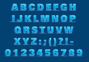 Ijs lettertype vector