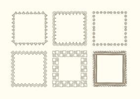 Hand getrokken frame set vector