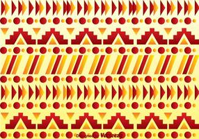 Rood En Oranje Aztekenpatroon vector