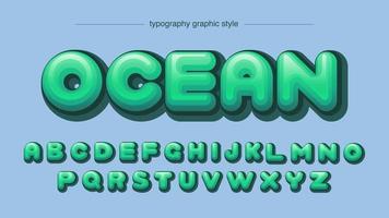 afgerond groen komisch lettertype in grafische stijl vector