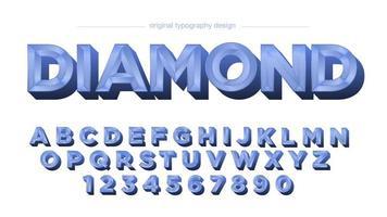 blauwe diamant tegels chroom vintage alfabet