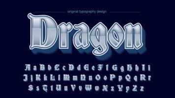 zilveren middeleeuwse oude script alfabet vector
