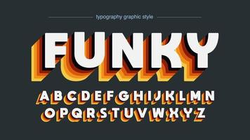 warme kleuren retro disco alfabet vector