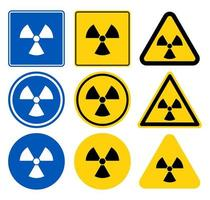 straling waarschuwingsbord set vector