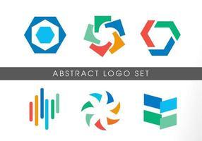 moderne abstracte vorm kleurrijke logo set vector