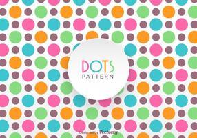 Gratis Colorful Dot Pattern Vector