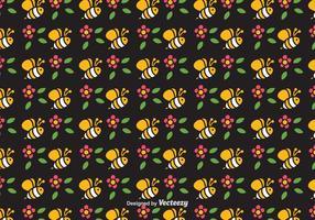 Gratis Cute Bee Vector Naadloos Patroon