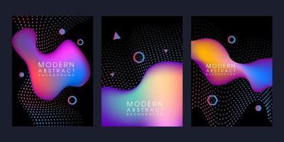 kleurovergang vloeibare vorm banner set vector