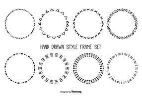 Leuke Hand Getrokken Frame Set vector