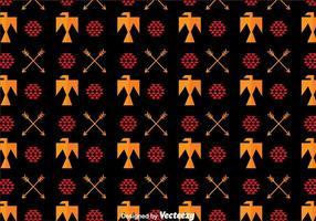 Azteek Vogel Ornament Patroon vector