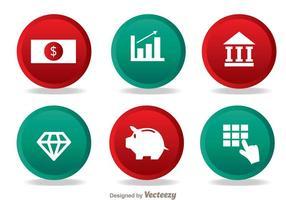 Bank eenvoudige pictogrammen