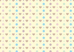 Polka Dots & Cute Hearts Gratis Vector