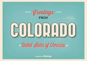 Colorado Groeten Illustratie vector