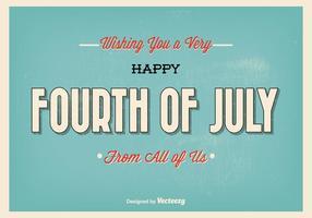 Retro stijl typografische vierde juli illustratie vector