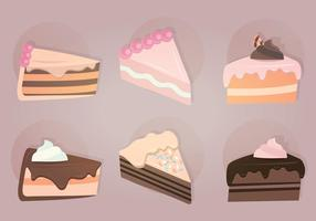 Plakjes Cake Vector Illustratie