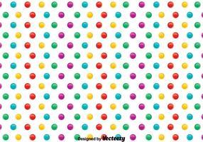 Kleurrijke Polka Dot Pattern Vector