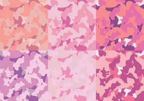 Mode Roze Patronen Camo Textuur vector