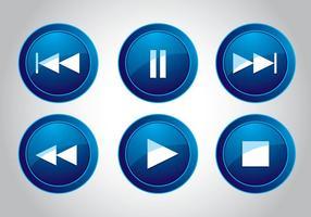Media knop icoon vectoren