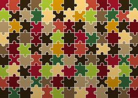 Herfst Jigsaw Patroon Vector
