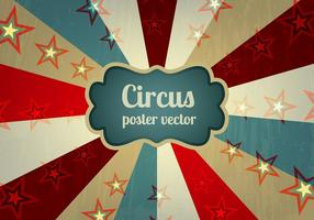 Oude Circus Poster Achtergrond Vector