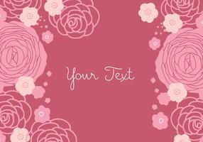 Bloemen Roze Achtergrondontwerp
