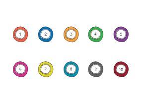Gratis Lotto Balls Vector Series