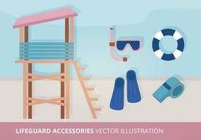 Badmeester Accessoires Vector Illustratie