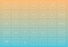 Dun Line Media Player Buttons