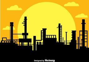 Fabrieks silhouet vector