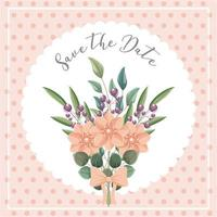 bloemen boeket bewaar de datumkaart