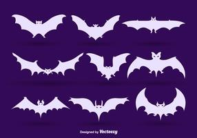 Bat silhouetten vector