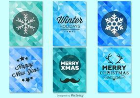 Winter kerstmis achtergrond sjablonen vector