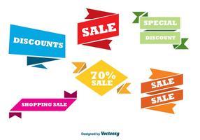 Kleurrijke verkoop banners vector