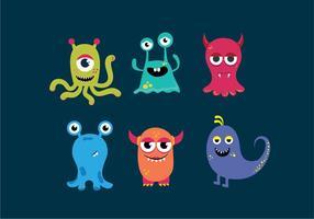 Monster gezichten vector