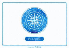 Gratis Vector Waterverf Nautisch Etiket
