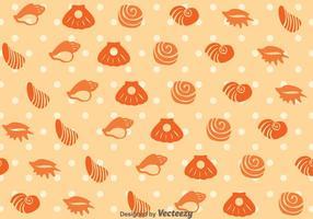 Sea Shell Patroon Vector