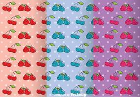 Vruchten Girly Pattern Vectoren