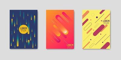 set van drie trendy covers in memphis-stijl