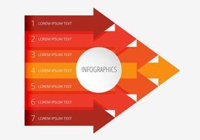 Pijlstijl infographic vector ontwerp
