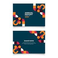 geometrische jaarverslagsjabloon