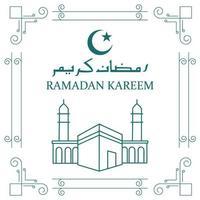 minimalistische ramadan kareem